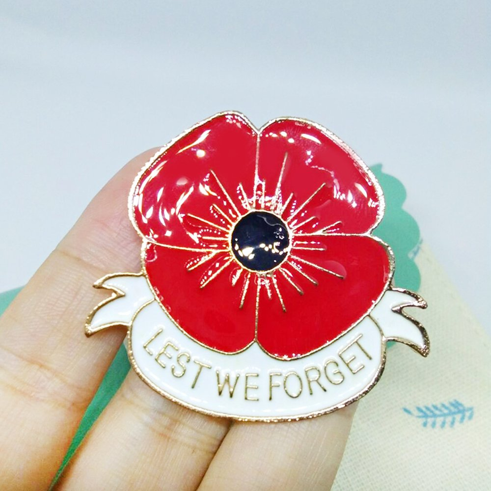 Amazon Masn Remembrance Day Memorial Day Gift Poppy Brooch