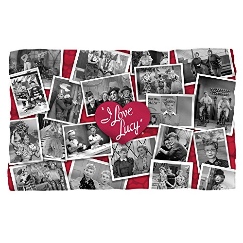 I Love Lucy Time After Time Fleece Blanket Throw White -
