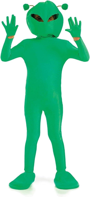 Childrens UFO Green Alien Kids Fancy Dress Childs Costume