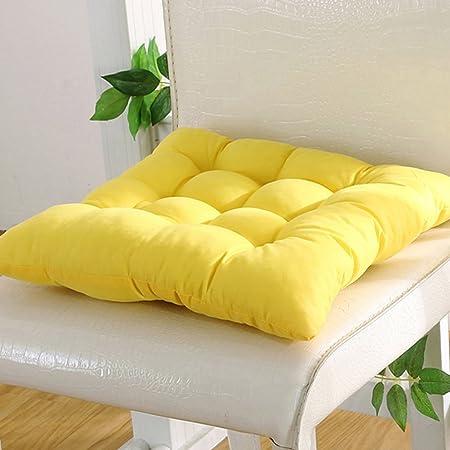 Cojín para silla de interior y exterior, mimbre macizo, cojines para silla de cocina, jardín, comedor, 35 x 34 cm, cojín para silla 40cm by 40cm amarillo: Amazon.es: Hogar