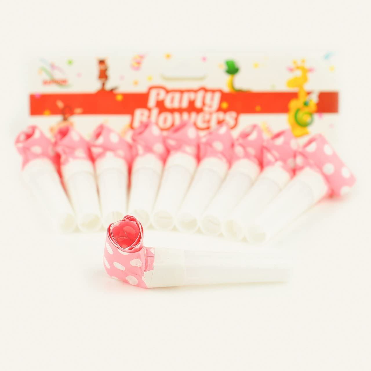Party Blowers Birthday Blowouts New Bag Supplies X Horns Favours Toy Happium Pack of 10 Black