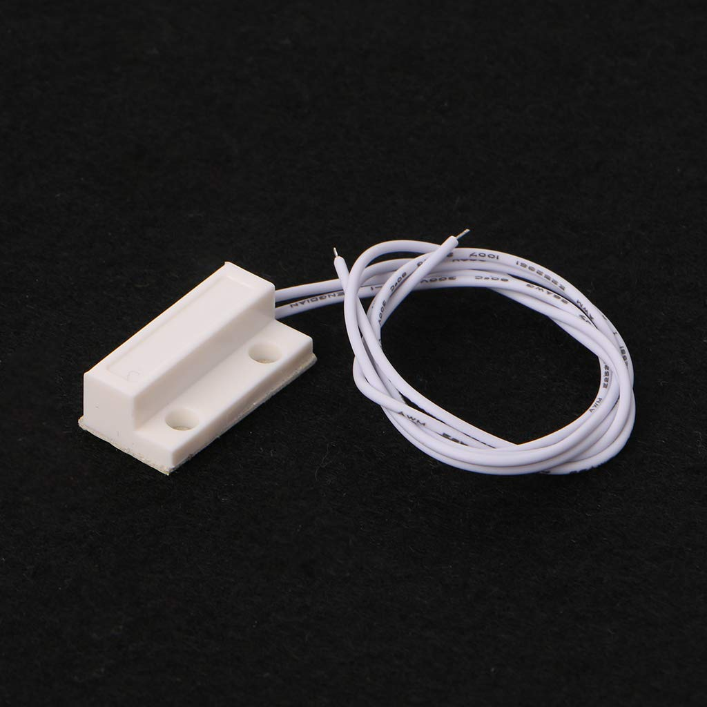 BIlinli 5 Set MC-38 Rilevatore di sensori per allarmi magnetici con Porta Finestra cablata sensore Magnetico