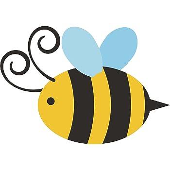 Amazon.com: Cute Simple Bumble Bee Cartoon Vinyl Decal ...