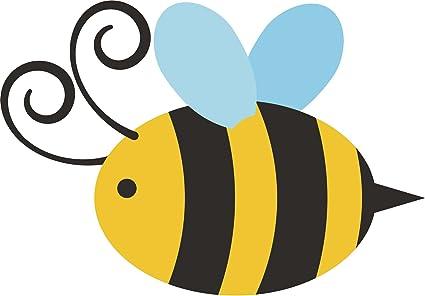 ad1bd58c7 Amazon.com: Cute Simple Bumble Bee Cartoon Vinyl Decal Sticker (4 ...