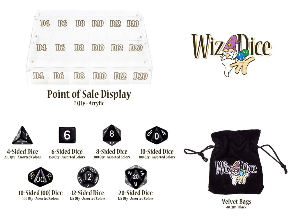 Wiz Dice Deluxe Starter Kit - Includes 50 Velvet Pouches! by Wiz Dice
