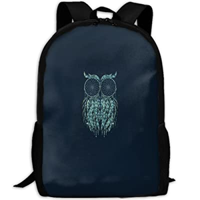 Blue Owl Dreamcatcher Cute Portable Travel Backpack For Adult