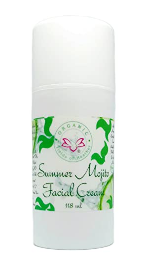 Amazon.com : Organic Fields of Heather Organic & Natural Summer Mojito Facial Moisturizer With Botanically Infused Ingredients, 4.0 fl. Oz : Beauty
