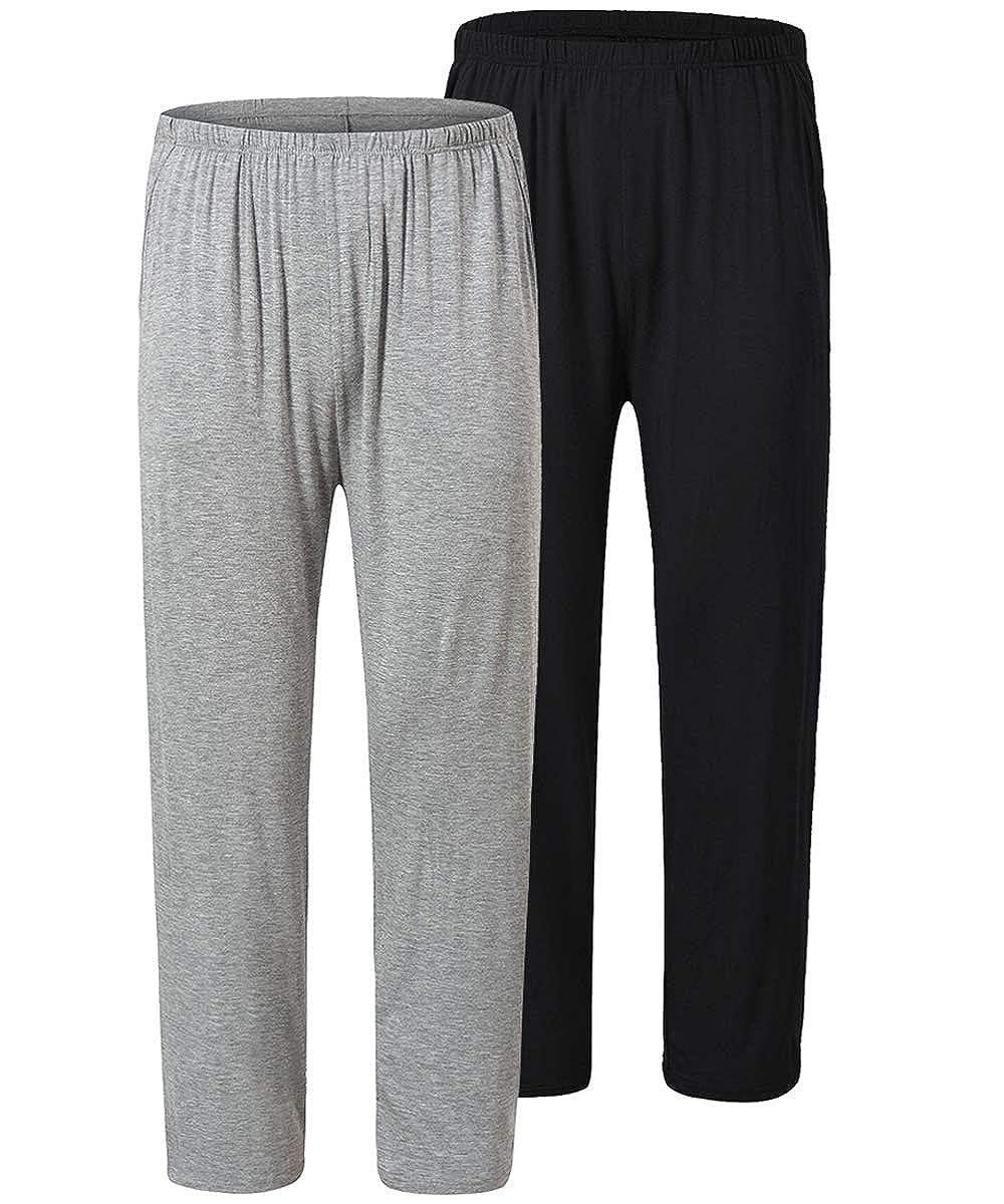 JINSHI Pantaloni Lunghi Pigiama da Uomo Morbide Modal Pantalone da Salotto Biancheria da Notte