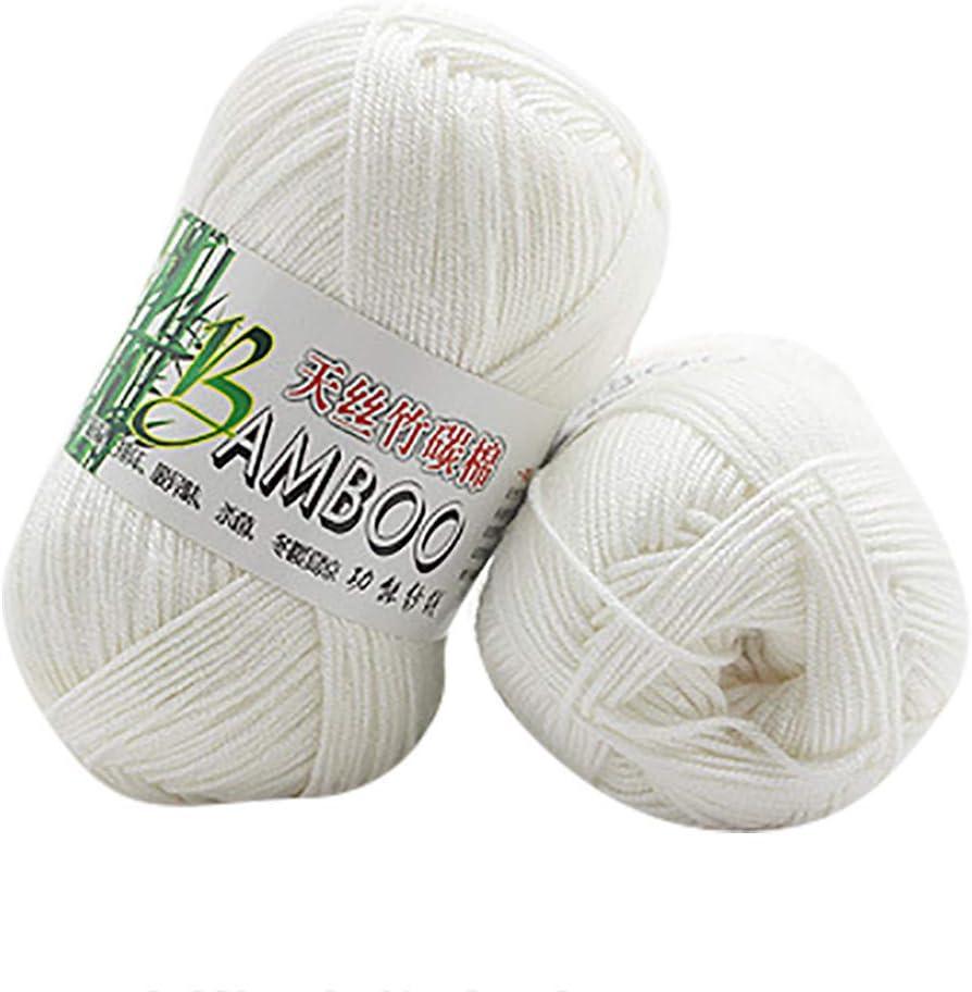 70/% Bambusfaser,0.047 Zoll 10 Farben A ,Bambus Baumwollgarn Perfekt f/ür H/üte Pullover Schal FeiliandaJJ 1pcs 50g Wolle Zum Stricken /& H/äkeln Handstrickgarn,30/% Baumwolle 1.2 mm