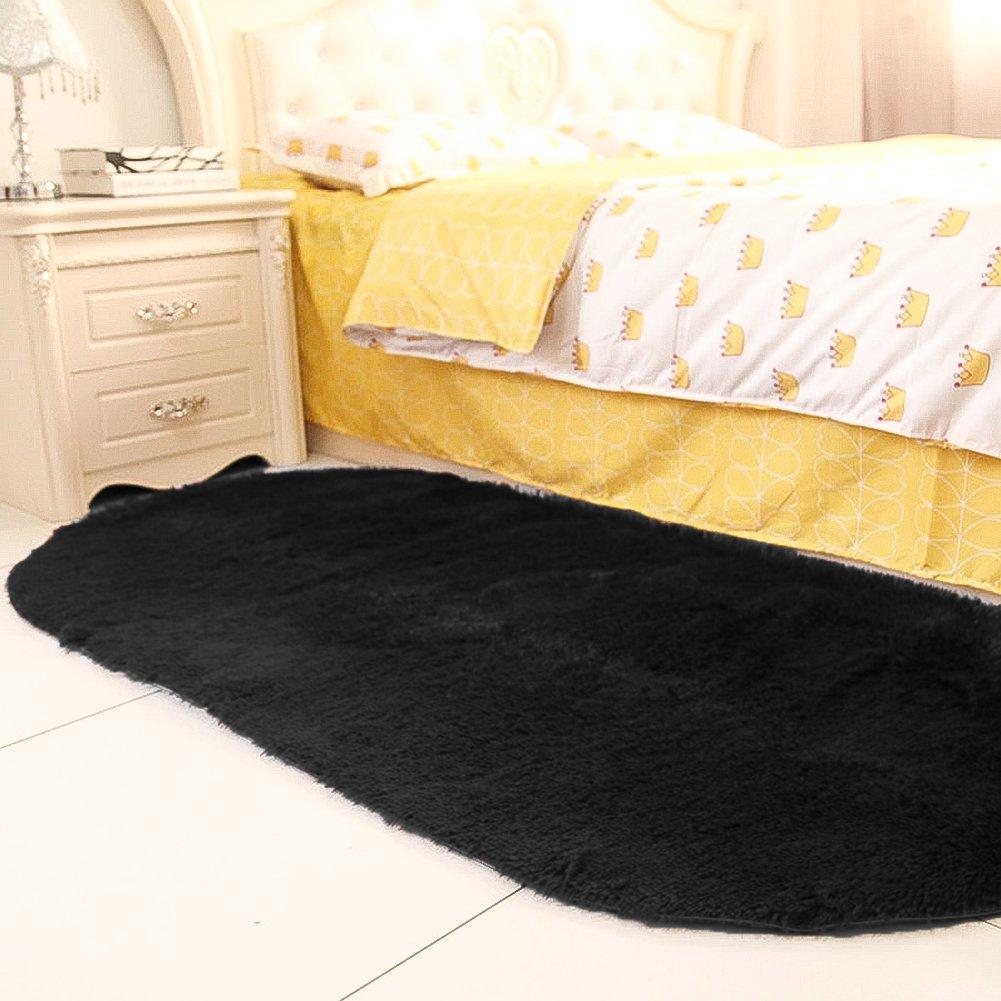 Amazon.com: YJ.GWL High Pile Velvet Bedroom Rugs (2.6\' x 5.3 ...