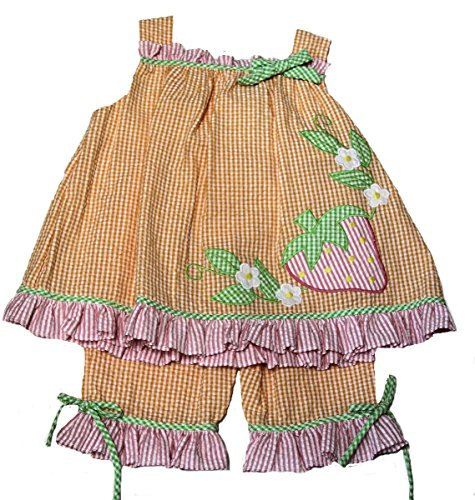 (zuzu ZU Baby-Girls Checked Seersucker Applique Dress and Capri)