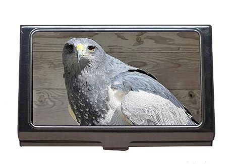 Porte Cartes De Visite En Acier Inoxydable Oiseau Rapace Proie Nature Pour Hommes Et Femmes Amazonfr Fournitures Bureau
