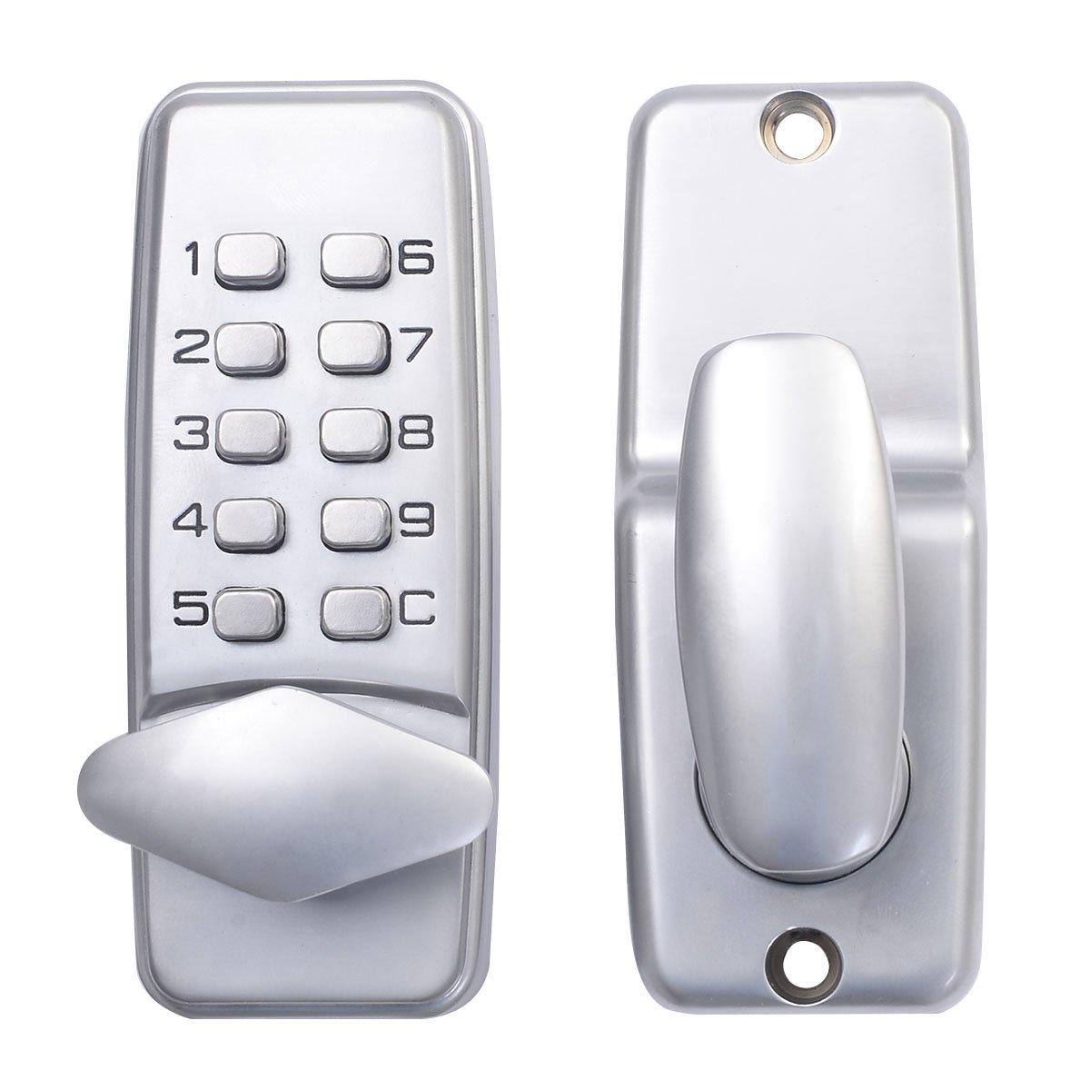 Safstar Keyless Mechanical Keypad Code Digital Locker Home Entry Security Safety Door Lock