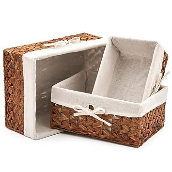 Nested Set of 3 Wicker Boxes Weaving Kit