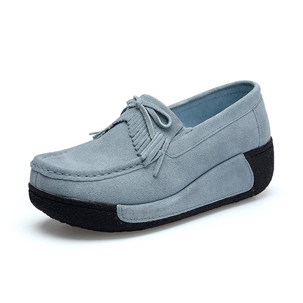 Z.SUO Mocassins Femmes Suède Casuel Femmes Confort Chaussures Chaussures 15160 Loafers Gris.1 ea1261a - jessicalock.space