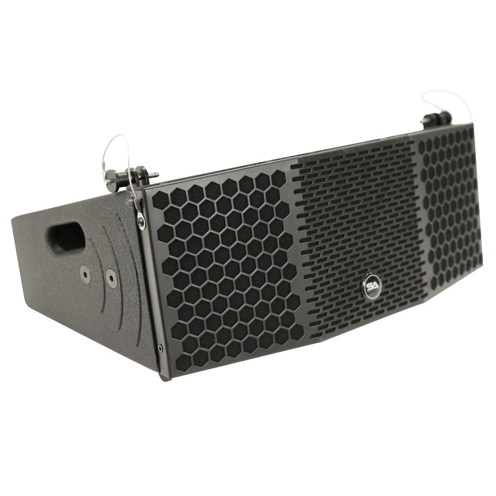 Seismic Audio CLA-2x5 Compact 2 x 5 Line Array Speaker with Titanium Compression Driver PA/DJ Band Live Sound by Seismic Audio