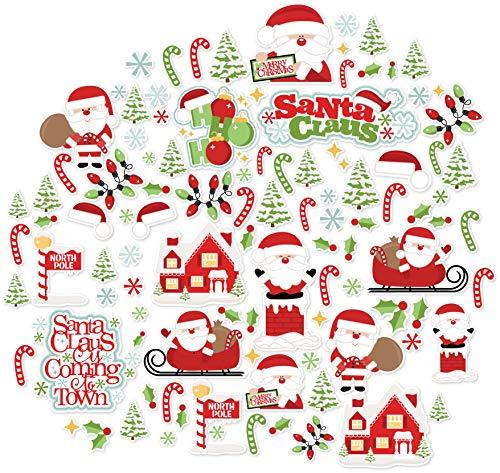 (Paper Die Cuts - Santa Claus - Over 60 Cardstock Scrapbook Die Cuts - by Miss Kate)