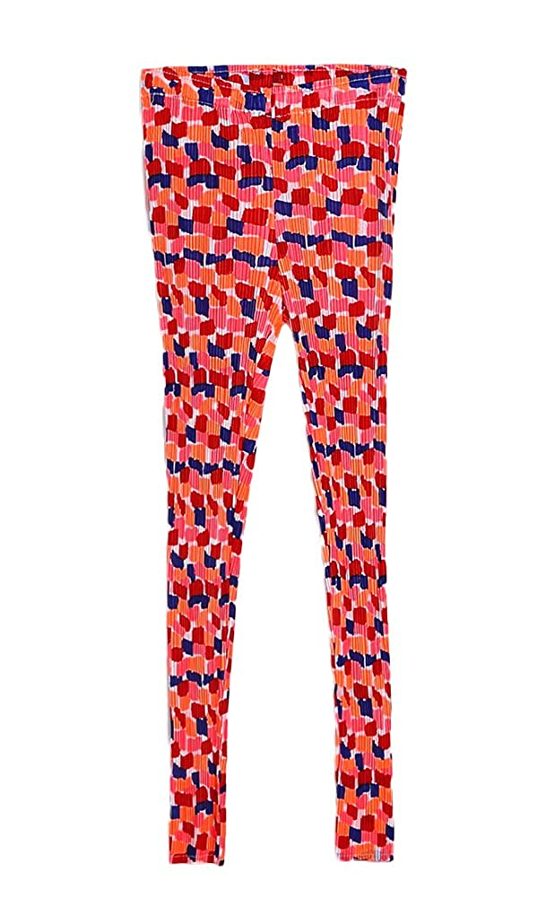 Liveinu Womens Fit To Most Pleats Floral Print Leggings
