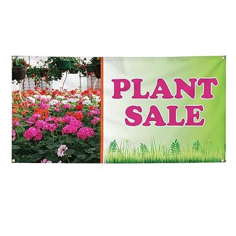 Amazon.com: Vinyl Banner - Cartel de venta de plantas ...