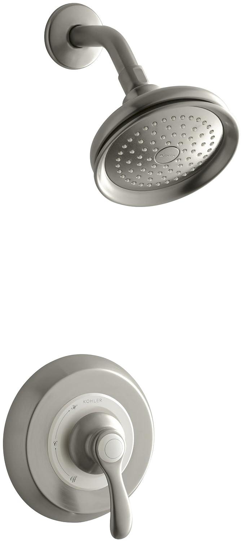 Kohler K T12014 4 CP Fairfax Rite Temp Pressure Balancing Shower Faucet  Trim With Lever Handle, Valve Not Included   Faucet Trim Kits   Amazon.com