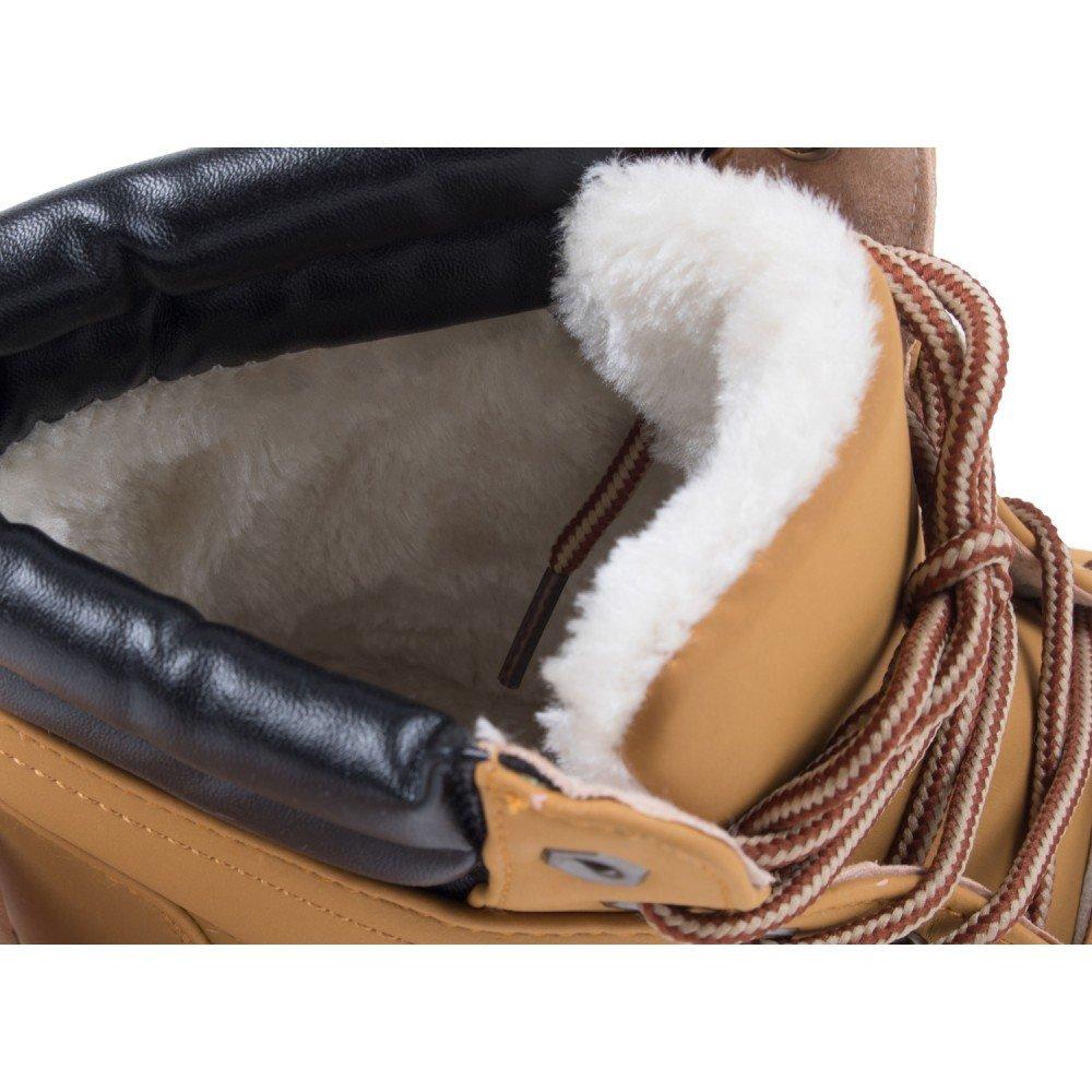 b1f1ef83523f Rangers Neige fourrées Femme Camel avec intérieur Fourrure synthétique    Renfort Simili Cuir-
