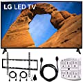 "LG 49LK5700PUA 49""-Class HDR Smart LED Full HD 1080p TV (2018) + Flat Wall Mount Kit Ultimate Bundle for 45-90 inch TVs + 6ft HDMI Cable + SurgePro 6-Outlet Surge Adapter w/Night Light"