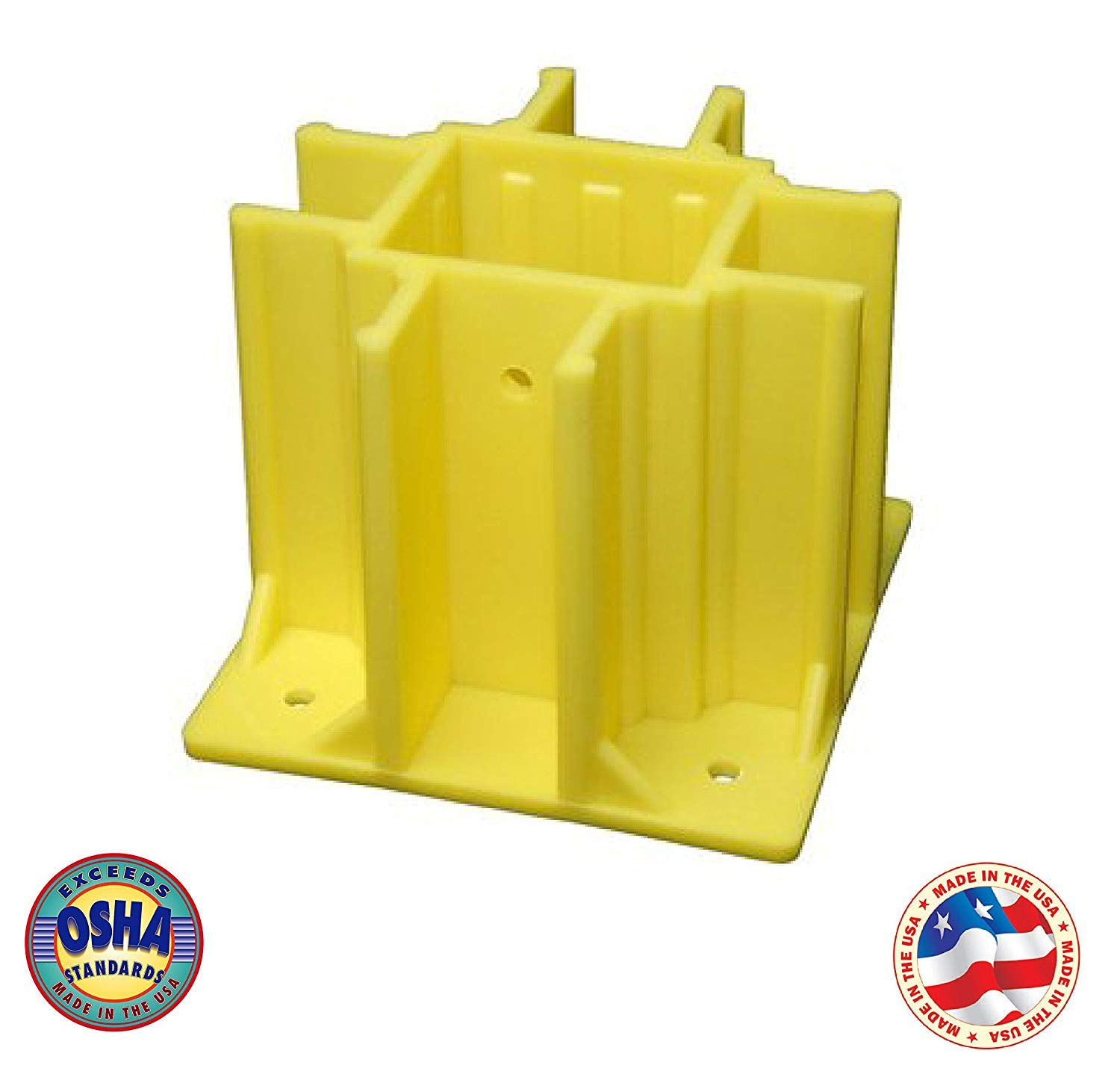 Safety Boot Yellow OSHA Temporary Guard Rail System by Safety Maker (48 Units)