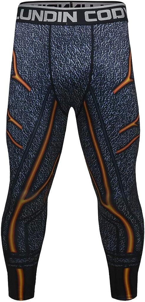 Pants Pantaloni Leggings Sportivi Elasticizzati Sport Degli Uomo Compressione Calzamaglia Baselayer Lunghi Casual Ad Sudore Fitness Workout Asciugatura Da Allenamento Per Bodybuilding Momoxi