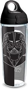 Tervis Star Wars Vader Trooper BPA Free Insulated Water Bottle & Lid, 24oz Bottle-Tritan, Clear