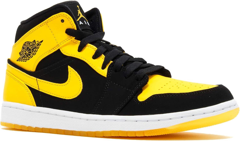 air jordan 1 mid new love jaune