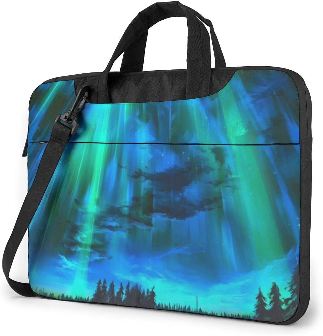 Beautiful Aurora Computer Sleeve Cover with Handle Business Briefcase Protective Bag for Ultrabook Sony Asus Samsung Laptop Shoulder Bag Carrying Laptop Case 13 Inch Notebook MacBook