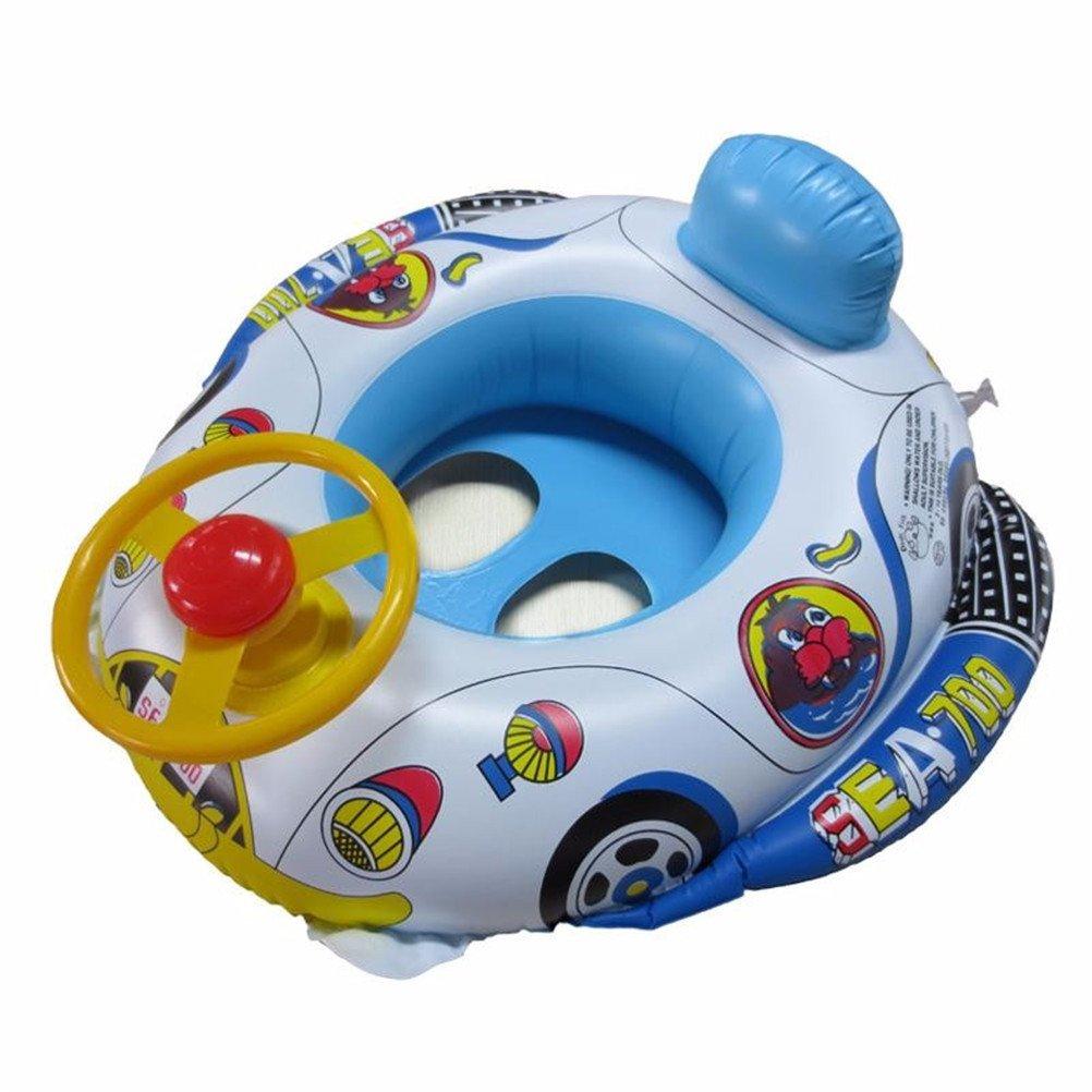 LianShi Aufblasbarer Auto-Schwimmen-Ring f/ür Kinder scherzt Baby-Schwimmer-Trainer-Sitz
