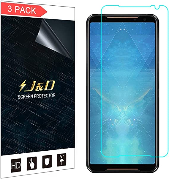 J&D Compatible para ASUS ROG Phone 2 Protector de Pantalla, 3-Pack ...