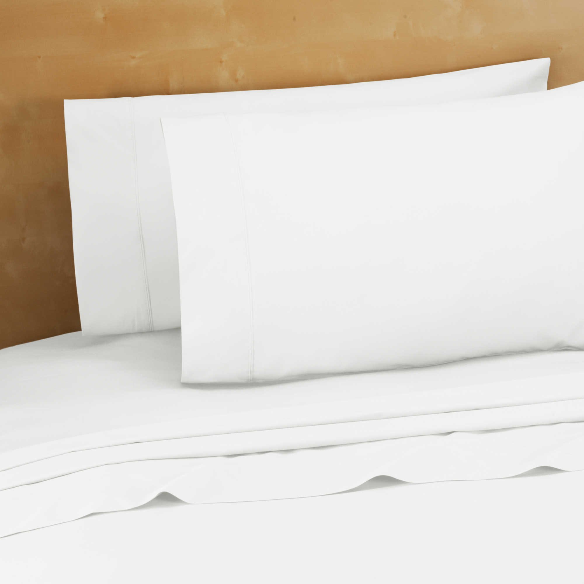 24 Pcs King Flat Sheet White (108''x110'') T-200 Percale Hotel Linen (Available in Bulk/ 2-Dozens) (King) by Golden Mills (Image #1)