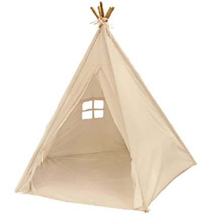 EasyGoProducts Indoor Teepee Tent Kids Classic Indian Play Tent and Carry Bag Walls with  sc 1 st  Amazon.com & Amazon.com: EasyGoProducts Indoor Teepee Tent Kids Classic Indian ...