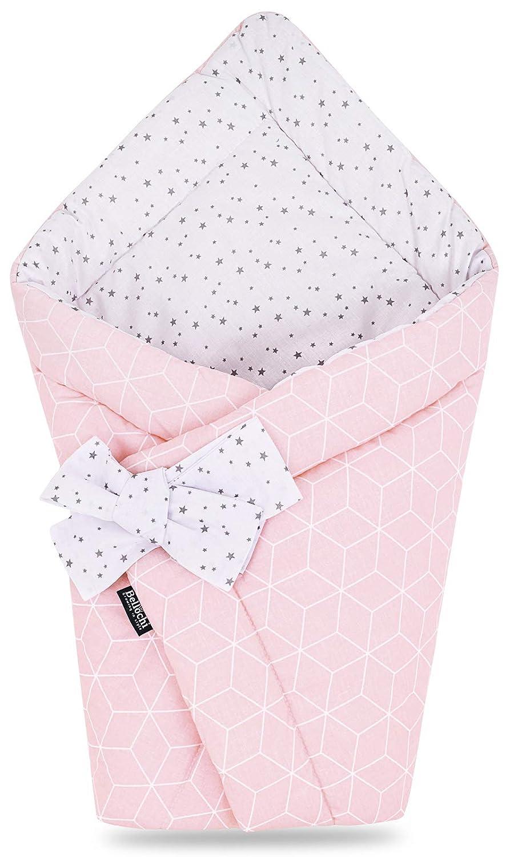 f/ür Kinderwagen Mint Berry Ganzj/ährig 75 x 75 cm /ÖKO-TEX Zertifiziert Bellochi 2in1 Baby Einschlagdecke Babyh/örnchen 100/% Baumwolle Wickeldecke Babybett oder Kindersitz