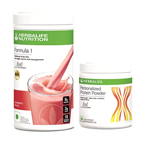 Herbalife Formula 1 Strawberry Shake 3 Protein Powder (500 g)+Protein  Powder 200g (Strawberry): Amazon.in: Health & Personal Care