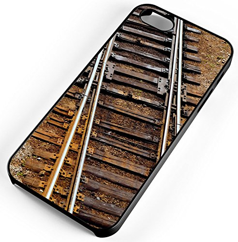 iPhone Case Fits iPhone SE 5s 5 Boxcar Caboose Railroad Train Tracks Smoke Rubber (Smoke Boxcar)