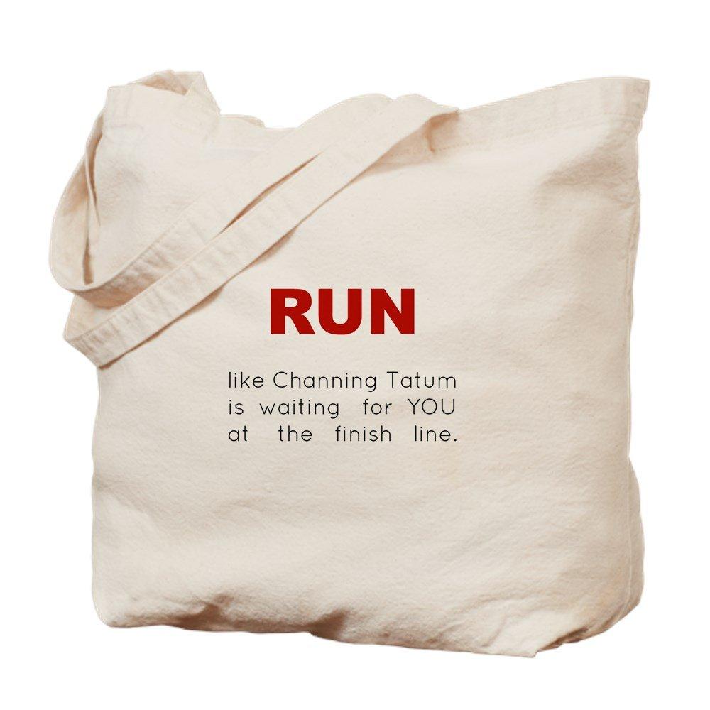 CafePress – Running Forチャニングテイタム – ナチュラルキャンバストートバッグ、布ショッピングバッグ B00WJEC1NY