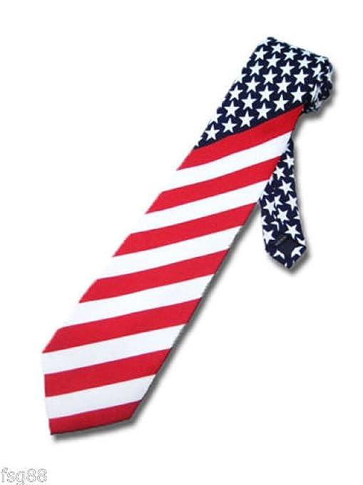 18beca1667d9 Amazon.com: NEW American Flag Men's Neck Tie USA Patriotic NeckTie ...