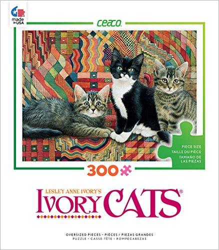 Ceaco Ivory Cats - Christie, Posky and Zelly Puzzle