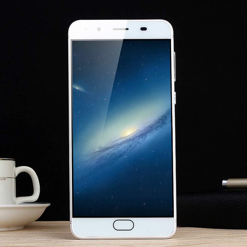 Mbtaua-Phone 5.5'' Ultrathin Smartphone Android 6.0 Octa-Core & 512MB+4G GSM WiFi Dual Unlocked Smartphone White