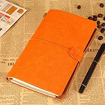 Diario de cuero IBuyi, hecho a mano, listo para escribir en ...