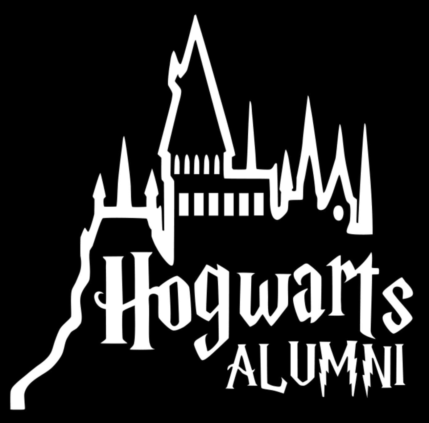 Signage Cafe Hogwarts Alumni Castle Car Truck Vinyl Decal Art Wall Sticker Harry Potter Movies Books Black, 6