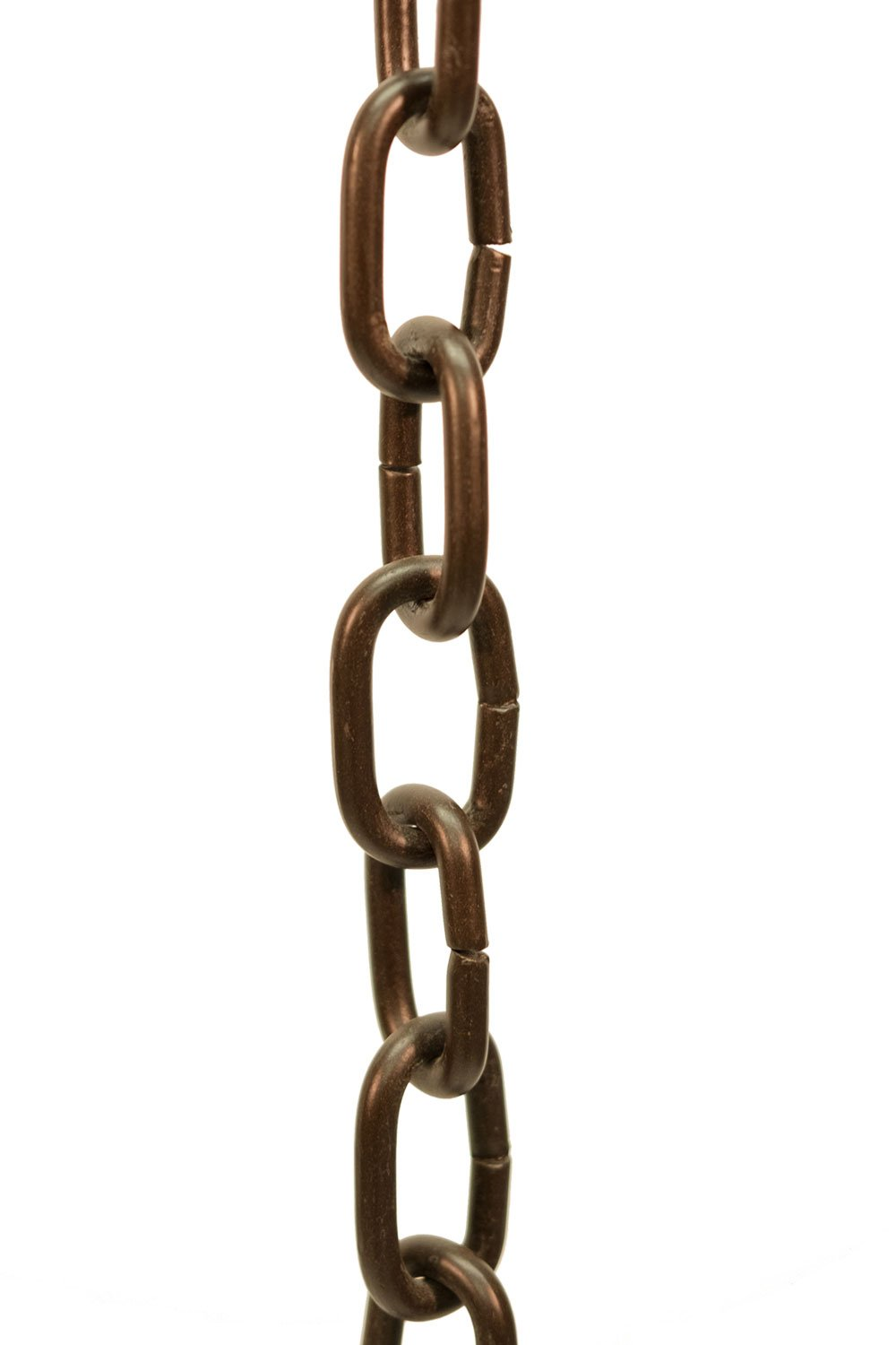 Bronze Large Aluminum Link Rain Chain with Installation Kit - 11 Foot
