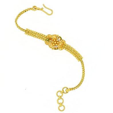 3be7eefa5 Joyalukkas 22KT Yellow Gold Bracelet for Girls: Amazon.in: Jewellery