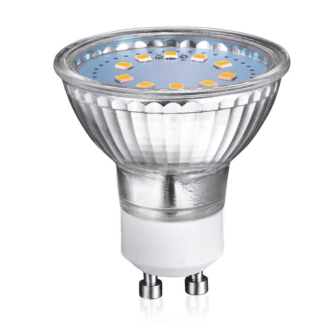 Bombillas LED GU10, 3.5 W Equivalente a 35 W, Blanco frío 6000K,120 ° ángulo de haz 320lm Pack de 6 Blanco frío 6000K 120 ° ángulo de haz 320lm Pack de 6 yohooo