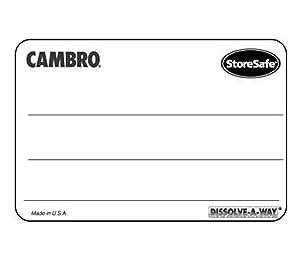 Cambro 1252SLINB250 Food Rotation Labels - Food Rotation Labels Dissolvable 1-1/4