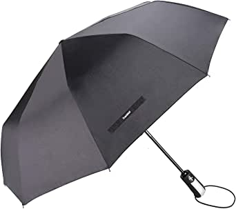 TradMall Travel Umbrella Windproof with 46/56 Inches Large Canopy 10 Reinforced Fiberglass Ribs Ergonomic Handle Auto Open & Close