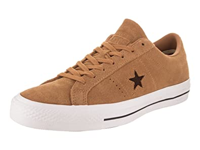 73394c603ade Image Unavailable. Image not available for. Color  Converse Skate One Star  Pro Oiled Suede Ox Raw Sugar Dark Clove Men s ...